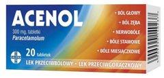ACENOL 0,3 x 20 tabletek