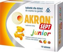 AKRON SEPT JUNIOR x 18 tabletek do ssania