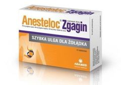 ANESTELOC Zgagin x 6 tabletek do ssania