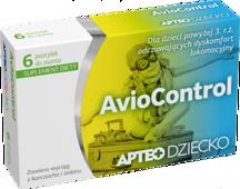 APTEO DZIECKO AvioControl x 6 pastylek do ssania- data ważności 30-04-2017r.