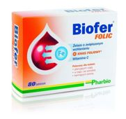 BIOFER Folic x 80 tabletek