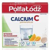 CALCIUM + Vit. C  x 16 tabl. musujących (pomarańczowe)