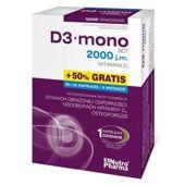 D3 mono 2000 j.m. x 60 + 30 kapsułek gratis!