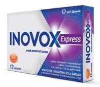 Inovox Express smak pomarańczowy x 12 pastylek do ssania