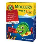 Moller's Omega-3 Rybki żelki owocowe x 36 sztuk