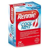 RENNIE COOL MINT x 24 tabletki do ssania