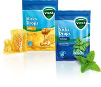 VICKS DROPS Miód 72g
