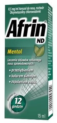 AFRIN ND Mentol aerozol 0,5mg/ml 15ml