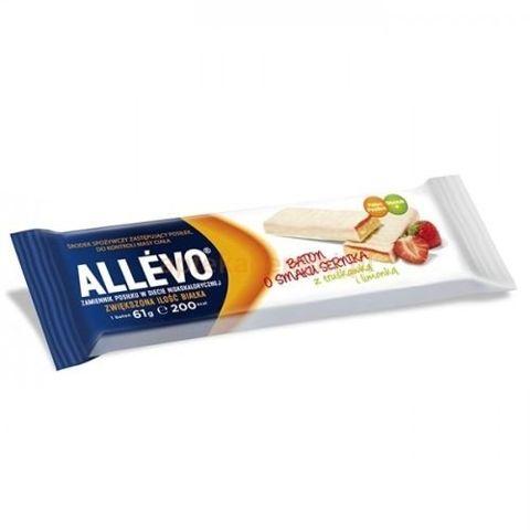 ALLEVO Baton smak sernika z truskawką i limonką 61g