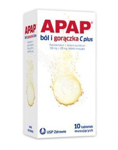 APAP Przeziębienie Fast x 10 tabletek musujących