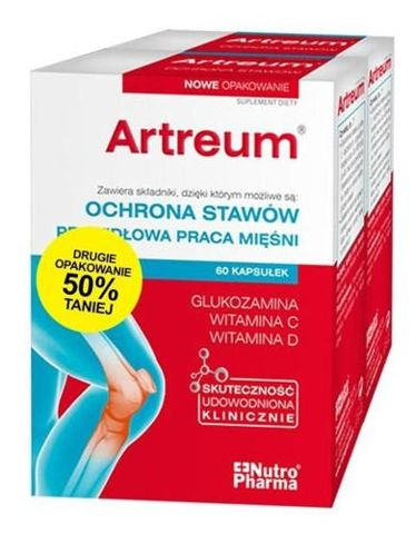 ARTREUM Forte D x 60 kapsułek + 60 kapsułek