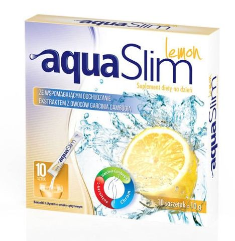 Aqua Slim Lemon 10g x 10 saszetek