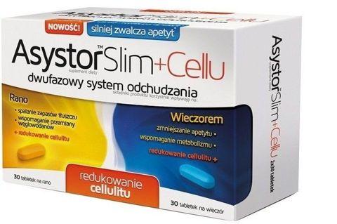 Asystor Slim + Cellu x 60 tabletek (30 tabletek na dzień + 30 tabletek na noc)