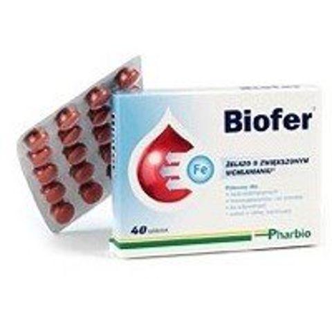 BIOFER x 40 tabletek - data ważności 31-05-2017r.