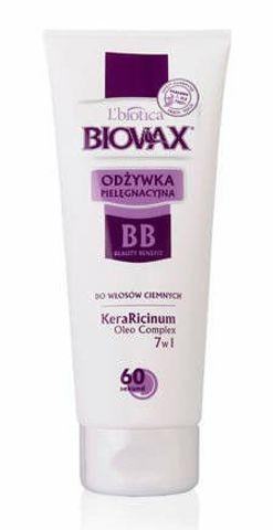 BIOVAX Odżywka BB 60 sekund do włosów ciemnych 200ml