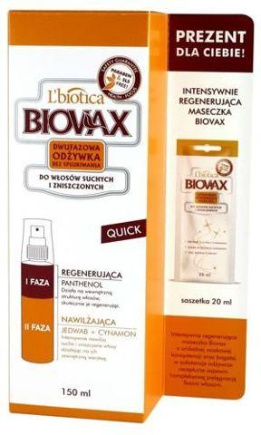 BIOVAX Odżywka dwufazowa do włosów suchych i zniszczonych 150ml