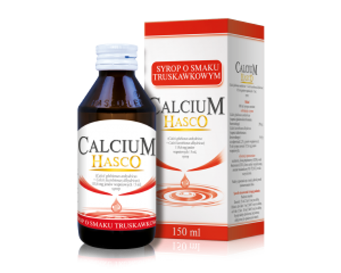 CALCIUM HASCO Syrop o smaku truskawkowym 150ml
