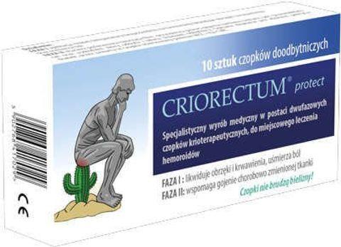 CRIORECTUM protect czopki krioterapeutyczne x 10 sztuk