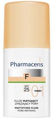ERIS Pharmaceris F Fluid matujący zwężający pory SPF25 01 Ivory 30ml