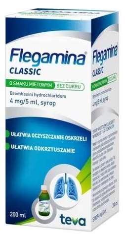 FLEGAMINA miętowa bez cukru syrop 200ml