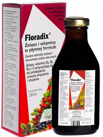Floradix Żelazo i Witaminy tonik 250ml