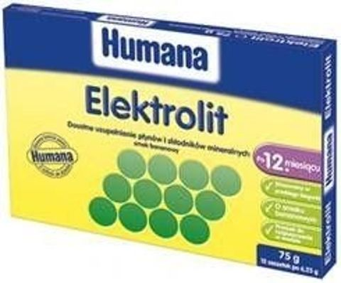 Humana Elektrolit smak bananowy 6,25g x 12 saszetek