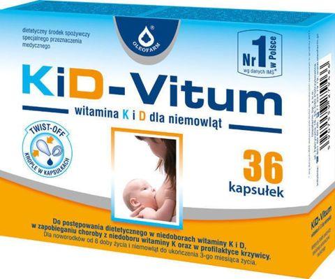 KiD-VITUM Witamina K i D dla niemowląt x 36 kapsułek