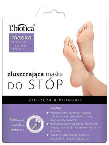 L'BIOTICA złuszczająca maska do stóp (złuszczające skarpety) 40ml x 1 para