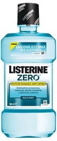 LISTERINE ZERO Płyn do płukania jamy ustnej Mild Mint 250ml