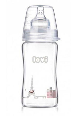 LOVI Butelka szklana Diamond Glass Retro Girl 250ml 74/202