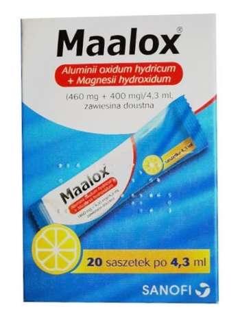 MAALOX zawiesina x 20 saszetek