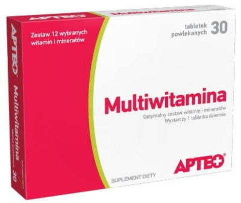 MULTIWITAMINA APTEO  x 30 tabletek