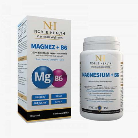 Magnez + B6 Noble Health x 30 kapsułek
