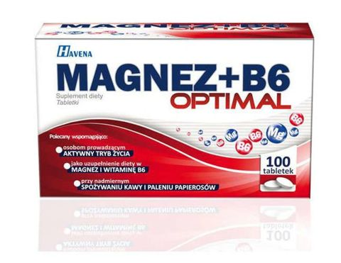 Magnez+B6 Optimal x 100 tabletek