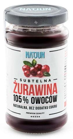 NATJUN Żurawina 105% owoców 220g