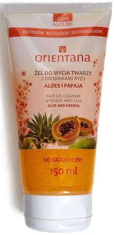 ORIENTANA Żel do mycia twarzy z drobinkami ryżu Aloes i Papaja 205ml