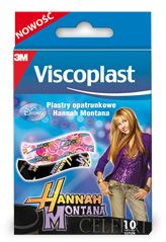 PLASTER VISCOPLAST Hannah Montana x 10 plastrów