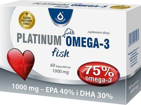 PLATINUM OMEGA-3 FISH 1000mg x 60 kapsułek