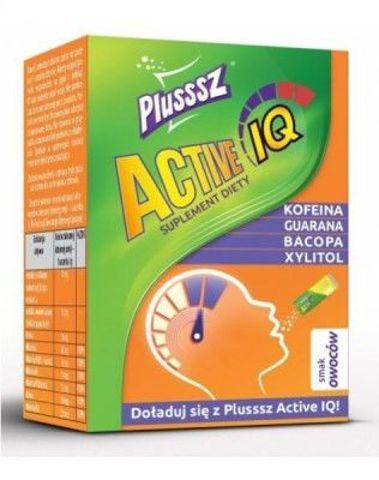 Plusssz Active IQ smak owocowy 1g x 10 saszetek
