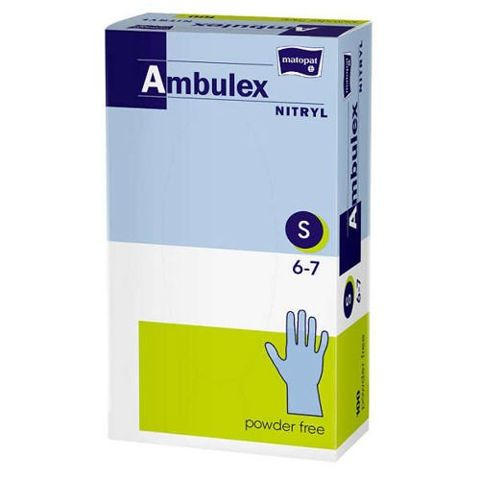 Rękawice Ambulex Nitryl niejałowe niepudrowane rozmiar S x 100 sztuk