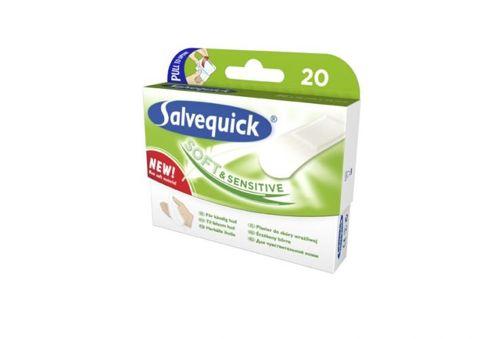 SALVEQUICK Soft & Sensitive plaster hypoalergiczny x 20sztuk