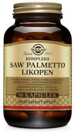 SOLGAR Saw Palmetto, opuncja i likopen x 50 kapsułek