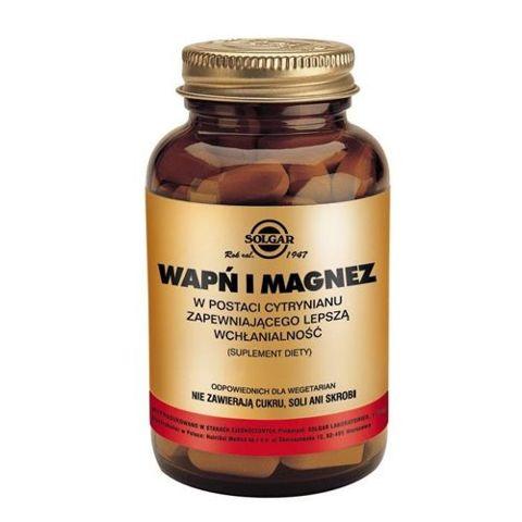 SOLGAR Wapń i Magnez w postaci cytrynianu x 100 tabletek