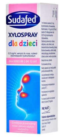 SUDAFED Xylospray dla dzieci aerozol do nosa 10ml