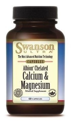 SWANSON Albion Chelat Wapnia i Magnezu x 60 kapsułek