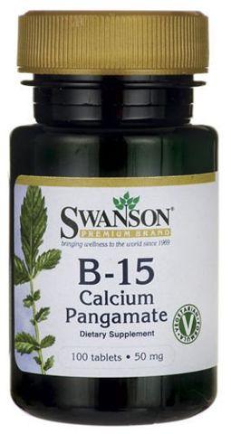 SWANSON B-15 Calcium Pangamate 50mg x 100 tabletek