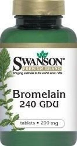 SWANSON Bromelina 200mg x 100 tabletek