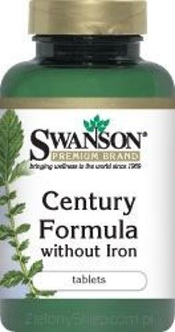 SWANSON Century Formula bez żelaza x 130 tabletek
