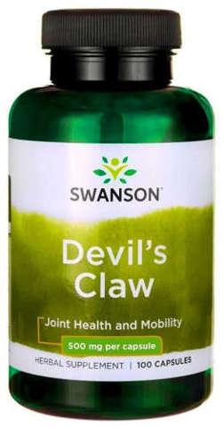 SWANSON Devil's claw (Diabelski pazur) 500mg x 100 kapsułek