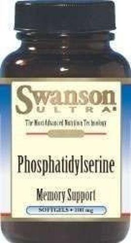SWANSON Fosfatydylseryna 100mg x 30 kapsułek